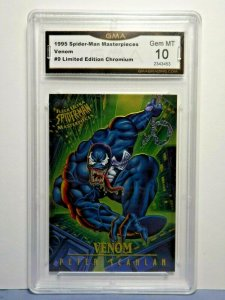 1995 Marvel Spider-Man Masterpieces #9 VENOM Limited Chromium Graded GEM MT 10