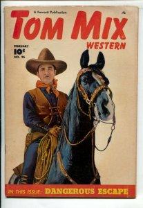 Tom Mix Western #26 1950-Fawcett--Photo cover of Tom & his horse Tony-Carl Pf...