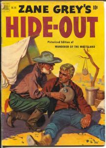 Zane Grey's Hide-Out-Four Color Comics #346 1951-Dell-book length comic-VG/FN