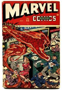 Marvel Mystery Comics #65 1945 WWII bondage cover by Alex Schomburg-Timely