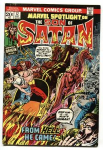 Marvel Spotlight #12 origin of Son of Satan-comic book- 1973 VF+