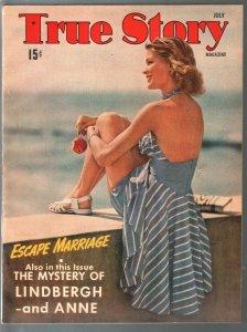 True Story 7/1941-Martie Hazlitt-Robert Ripley-WWII era-exploitation-pulp thrill