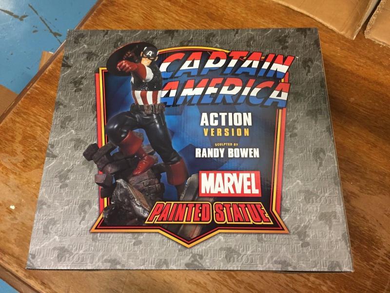 Captain America Action Version Marvel Painted Statue Bowen Designs # 123 TWT1