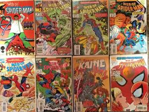WEB OF SPIDER-MAN MARVEL 8 BOOK LOT #5,69,104-107,124,125 NM CONDITION