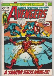 Avengers, The #106 (Dec-72) VG/FN Mid-Grade Avengers