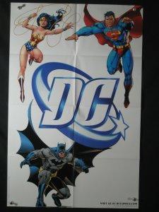 DC Comics Promo Poster 34x22 SUPERMAN BATMAN