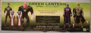 GREEN LANTERN ACTION FIGURES Promo poster, 2005, Unused, more in our store