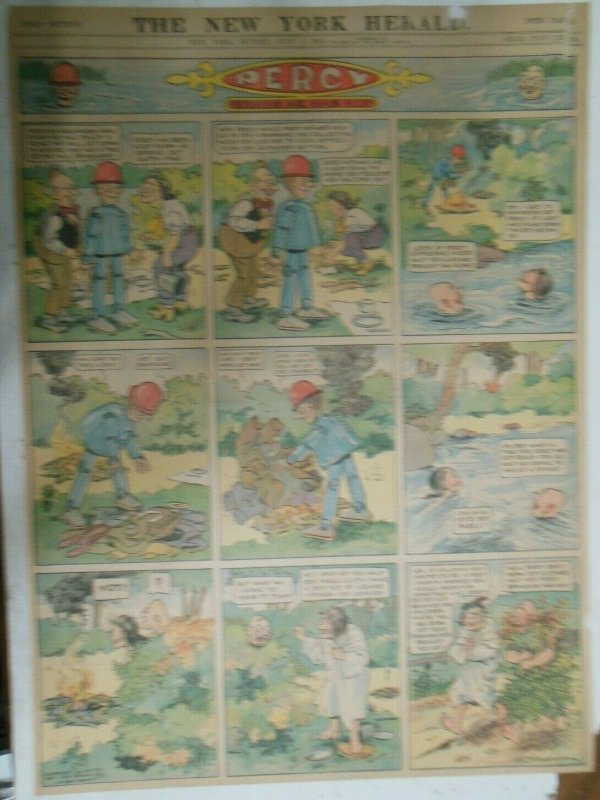Percy The Robot Sunday Page by HC Greening from 7/7/1912 Full Page Size Rare !