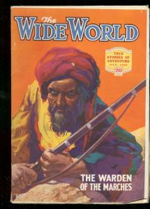 THE WIDE WORLD PULP JULY 1926 TURBANED MENACE ARABS VF-
