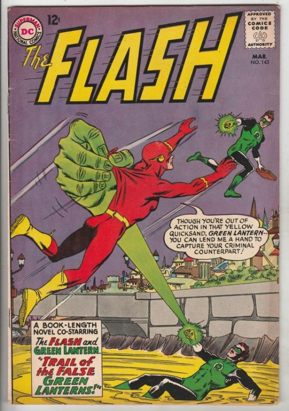 Flash, The #143 (Mar-64) FN/VF Mid-High-Grade Flash