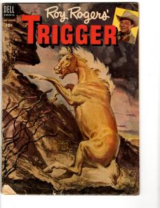 Roy Rogers' Trigger # 13 VG/FN 1954 Dell Silver Age Comic Book Horse Cover TP1