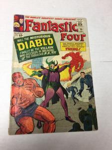 Fantastic Four 30 3.5 Vg- Very Good- 1st Diablo