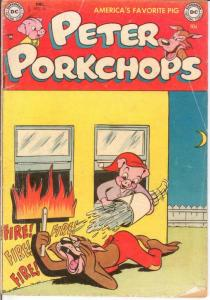 PETER PORKCHOPS 25 GOOD Dec. 1953 COMICS BOOK
