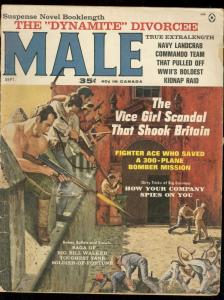 MALE SEP 1963-KUNSTLER COVER-VICE SCANDAL-BARBARA NELLI G