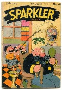 Sparkler Comics #41 1945- crab cover- Tarzan- incomplete