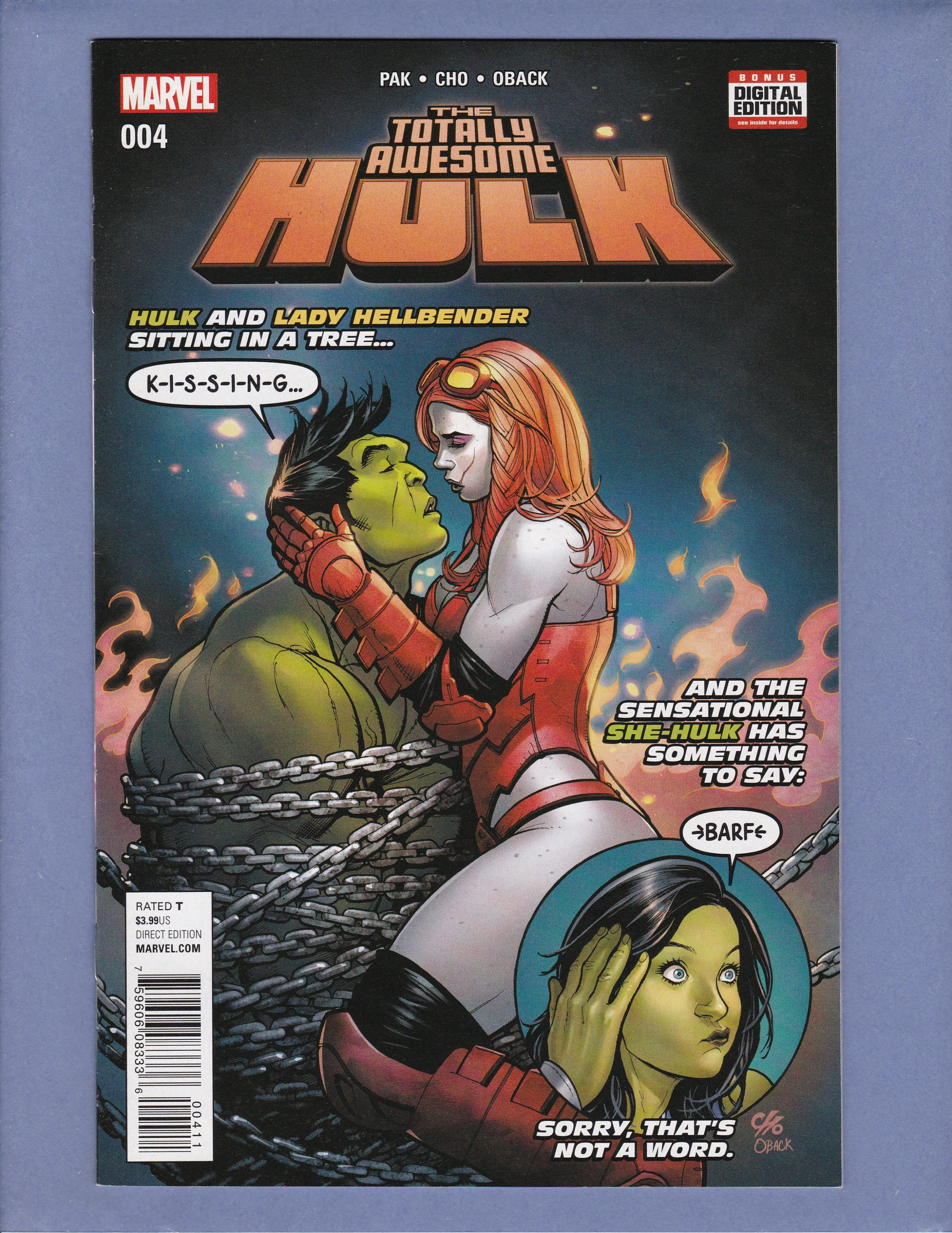 THE TOTALLY AWESOME HULK 4 WOMEN OF POWER VARIANT NM