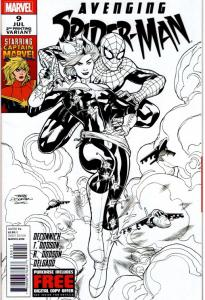 AVENGING SPIDER MAN #9 2ND PRINT VARIANT $125.00