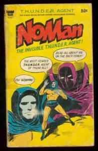 NOMAN PAPERBACK 1966-INVISIBLE THUNDER AGENT-WALLY WOOD G