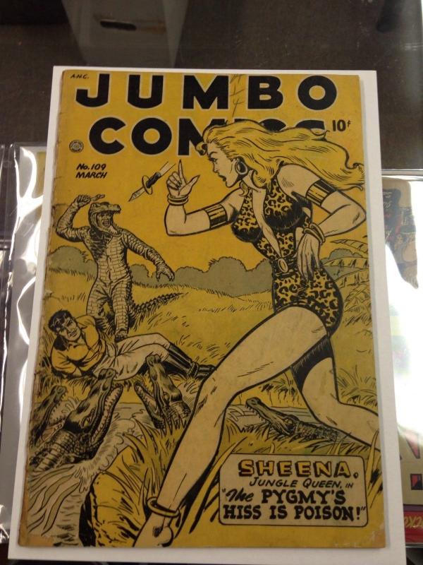 Jumbo Comics 109 G+ (Fiction House Mar. 1948 Jack kamen, Matt Baker art)