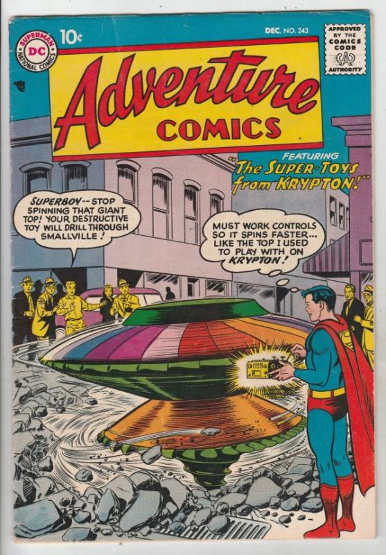 Adventure Comics #243 (Dec-57) VF+ High-Grade Superboy, Green Arrow, Aquaman