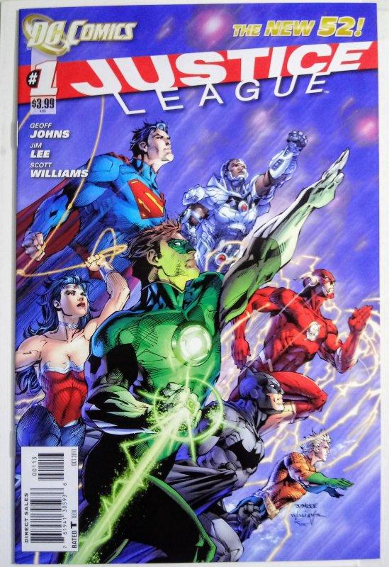 Justice League #1 (VF/NM) 2011 3rd print Variant Cvr Jim Lee Scott Williams