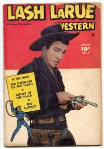 Lash LaRue Western #3 1950-Fawcett-B-Western film star-photo covers-G