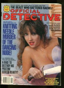 OFFICIAL DETECTIVE-08/1990-DANCING NUDE-RAGE-DESTROY-RAPE-BULLETS-STRA VG/FN