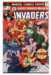The Invaders #4 1975- comic book-Marvel Bronze Age- U-Man VF/NM