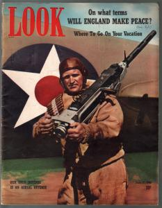 Look  6/17/1941-military cover-DC comics founder-Jimmy Dykes-Bob Hope-FN-