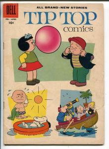 TIP TOP #212 1958-DELL-NANCY-SLUGGO-PEANUTS-CHARLES SCHULZ-SNOOPY-good/vg