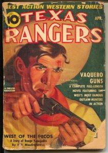 Texas Ranger 4/1940-Thrilling-hero pulp-Ranger Jim Hatfield-G-