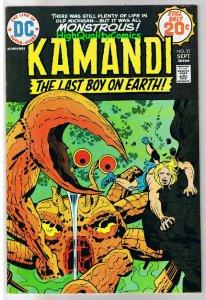 KAMANDI #21, VF+, Jack Kirby, Last Boy on Earth, 1972, more JK in store