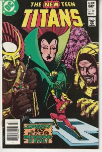 New Teen Titans(vol. 1) # 29   Brother Blood  ! The Brotherhood of Evil !