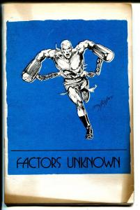 Factors Unknown #3 1972-final issue-Neal Adams-Doc Savage-George Perez-VG+