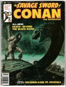 Savage Sword of Conan #26 Solomon Kane vs Dracula (Marvel, 1977) VG