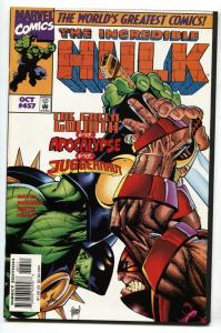 Incredible Hulk #457 War Hulk vs. Juggernaut Marvel comic book