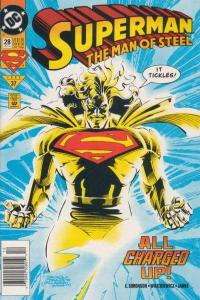 Superman: The Man of Steel #28, NM + (Stock photo)