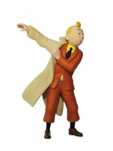 TINTIN: Figura PVC Tintin poniendose la gabardina  - Figura de 5,5 cm (ref. #...