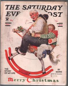 Saturday Evening Post  12/16/1933-Rockwell  Christmas cover-complete magazine-VG