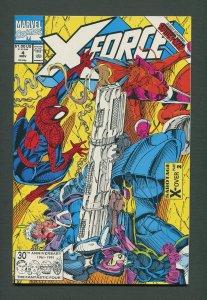 X-Force #4  / 9.0 VFN/NM  - 9.2 NM-  /  November  1991