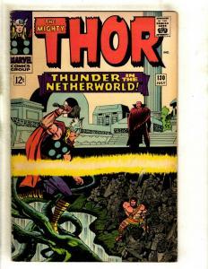 Thor # 130 FN- Marvel Comic Book Loki Odin Sif Avengers Hulk Iron Man GK4