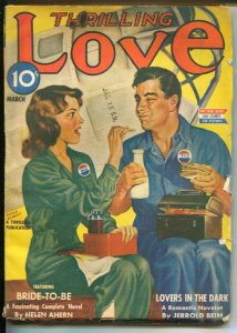 Thrilling Love 3/1945-Earl Bergey WWII home front cover-Helen Ahern Bride-to-...