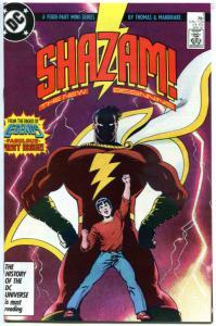 SHAZAM #1, FN+ Captain Marvel, Tom Mandrake, New Beginning, 1987