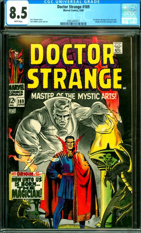 Doctor Strange #169 CGC 8.5 1st Doctor Strange in his own title.