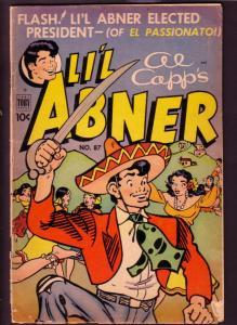 LI'L ABNER #87  AL CAPP  1952 TOBY PRESS MEXICO COVER G/VG