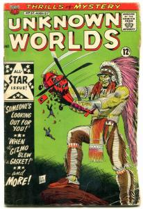 Unknown Worlds #57 1967- ACG Silver Age- FINAL ISSUE fair