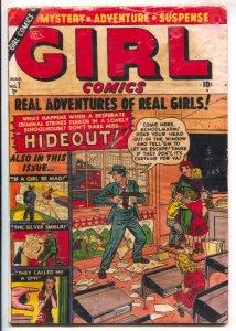 Girl Comics #7 1951-Atlas-Terrorist holds school children hostage on this top...