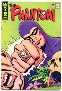 THE PHANTOM #22 1967-KING COMICS-SKULL CAVE-MANDRAKE VG