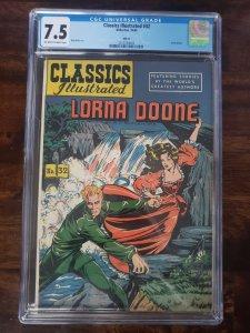 Classics Illustrated 32 HRN 64 CGC 7.5 Lorna Doone