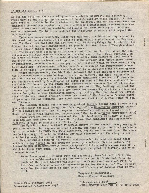 All-STARbegotten #63 1963-rare comics fanzine-4 page issue-FN